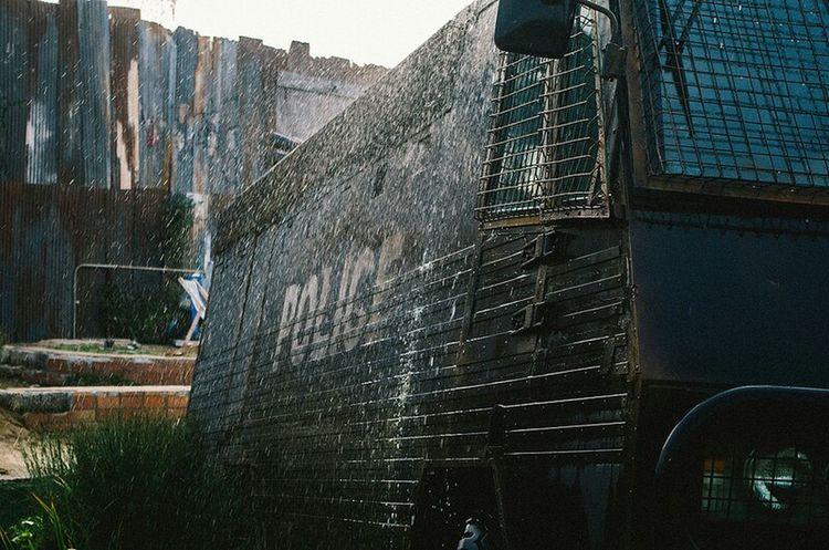 Police Police Van Water Spray Banksy Dismaland