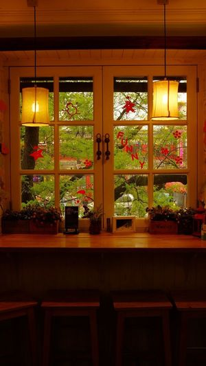 When I Stay At a Coffee Bar . The Window is Really Beautiful . That's Very Important Things I Like . I Want a Same  One in My House ! Feeling so Cool !