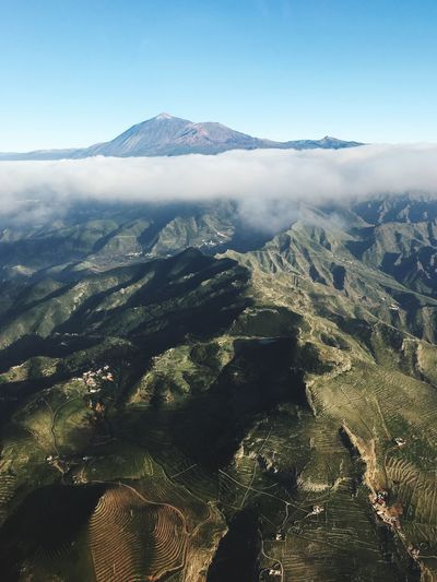 Mountain Landscape Scenics Nature Tranquility Beauty In Nature Tranquil Scene Aerial View Mountain Range Tenerife Tenerife Island Teide Volcano Volcanic Landscape Outdoors Day No People