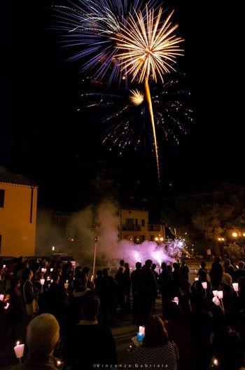 Fireworks Night People Italy