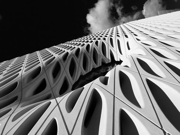 The Broad in broad daylight Thebroad Los Angeles, California Blackandwhite City Architecture Modern Geometric Shapes Pattern Pieces