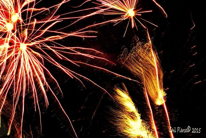 July 4h. Fireworks Blended Images, From My Point Of View Digital Expression, Holidays