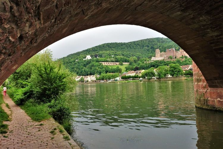 Außenaufnahme Beautiful Castle Deutschland Heidelberg Schloss Sonniger Tag Sunnyday☀️ Fluss Germany Man Made Object Man Made Structure Neckar Outdoor Photography River Schlossruine Vegetation Wasserspiegelung Waterfall Fortified Wall History Old Ruin Historic Arch Bridge Rock Formation Riverbank Fort