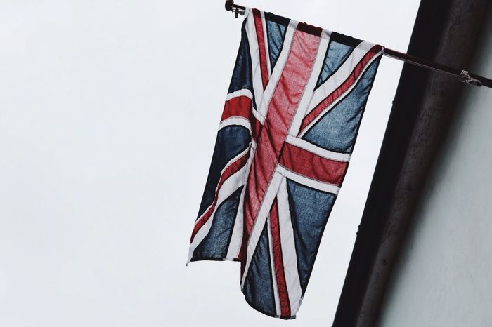 Flag Hanging Out Hi! Check This Out Taking Photos May2016 Eye4photography  Redwhiteandblue British Flag Patriotism In The Breeze The Olde British Town