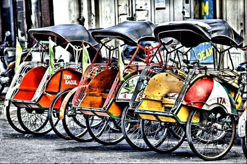 Pedicab Riding Pedicab Transportation Classic Kertosono Nganjuk Eastjavatourism Exploreeastjava