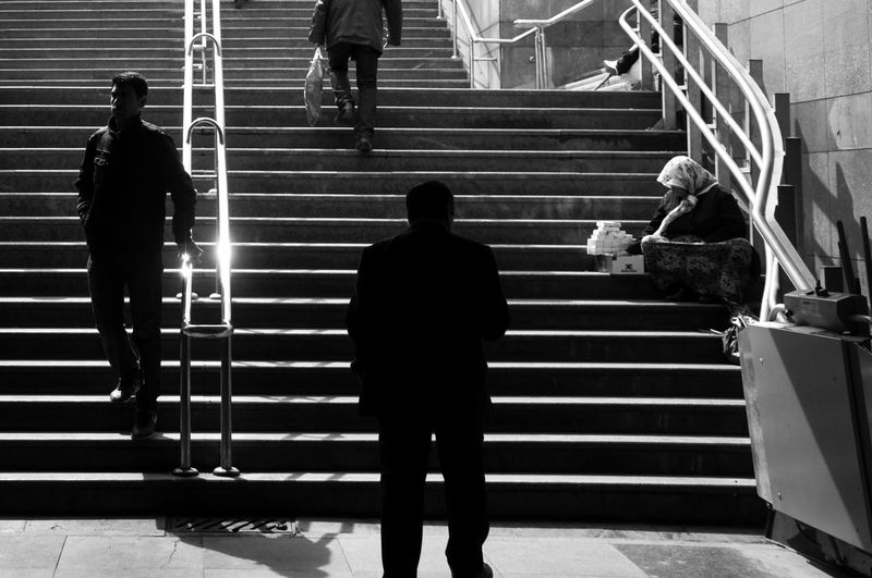 Adult Adults Only Architecture Black & White Black And White Photography Built Structure Day EyeEm EyeEm Best Shots EyeEm Gallery EyeEm Photo Of The Day Full Length Istanbul Istanbul City Leisure Activity Lifestyles Men One Person Only Men Outdoors People Real People Rear View Silhouette Standing EyeEmNewHere EyeEmNewHere