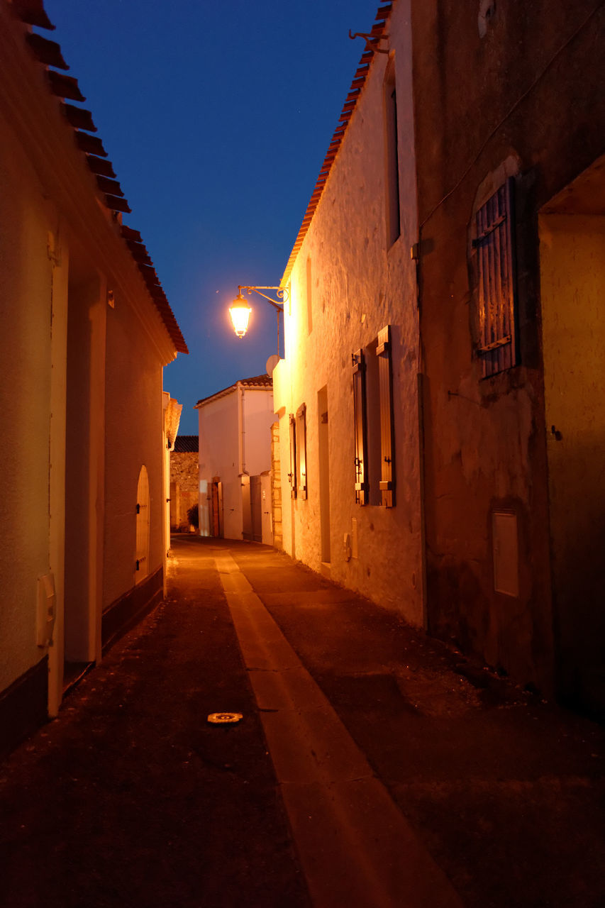 architecture, built structure, building exterior, illuminated, the way forward, no people, night, outdoors, sky