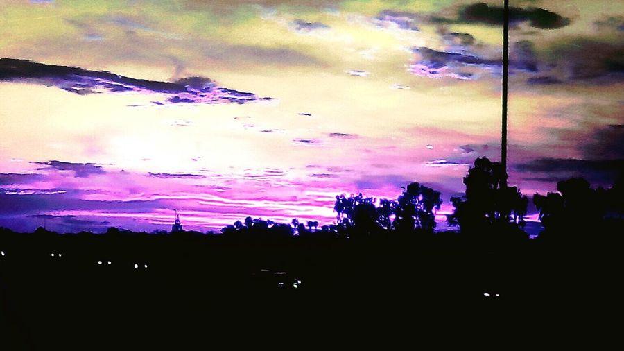 Sunrise Close-up Clouds And Sky