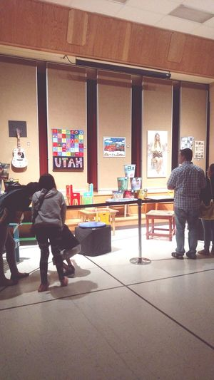 It's the time for art At School Art Gallery Art Showcase Silent Auctuon