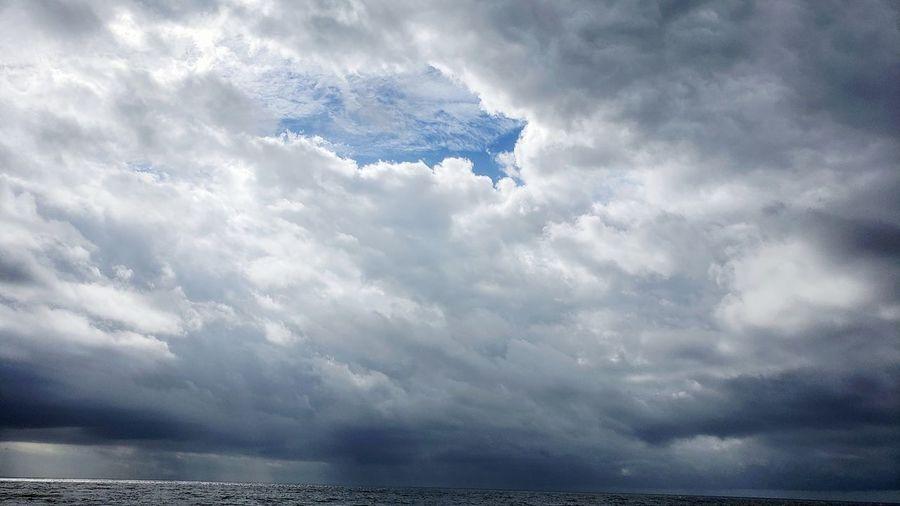 Water UnderSea Sea Storm Cloud Humpback Whale Sky Landscape Cloud - Sky