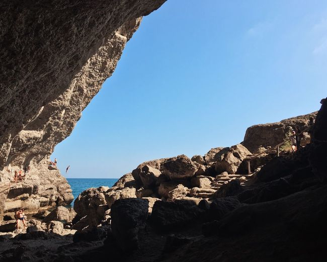 Jump Rock - Object Rock Formation Clear Sky Nature Low Angle View Day Cliff Mountain Sea Beauty In Nature EyeEmNewHere Go Higher