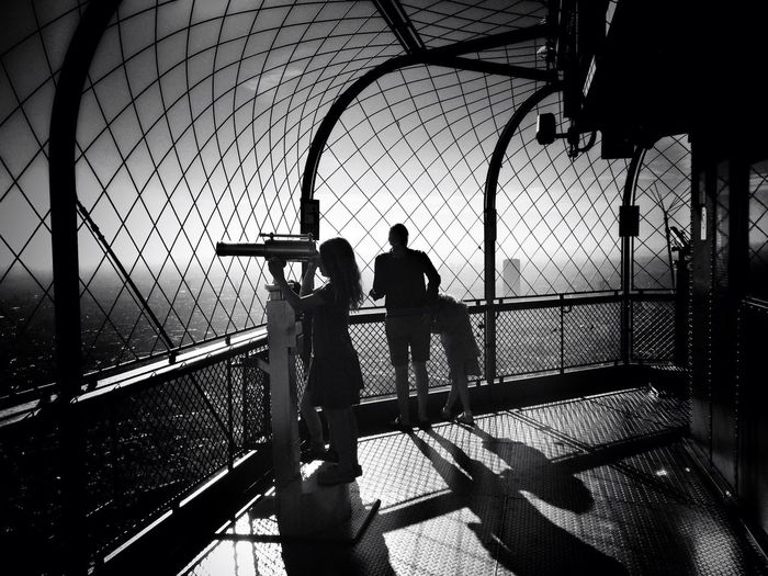 People in eiffel tower