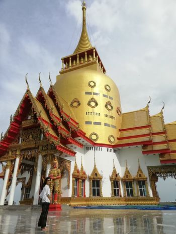 Thai Culture Buddhist Temple BUDDHISM IS LOVE Buddhism City Place Of Worship Religion Spirituality Pagoda Gold Colored Sky Architecture Building Exterior Palace Ancient Stupa Pavilion Royalty Civilization Castle Historic Ancient Civilization History
