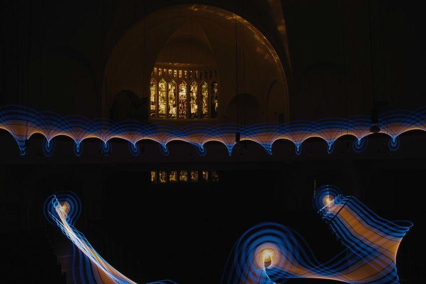 No People Indoors  Lightpainting Lightpaintingphotography Light Effect Multi Colored Illuminated Illuminate Longexposure Long Exposure LongTerm Church Recklinghausen Ruhrgebiet Lichtgraffiti Lichtmalerei Langzeitbelichtung Kirche Pixelstick Light Painting Bulb Bulbexposure Light Photography Lightpaint Bulbphotography