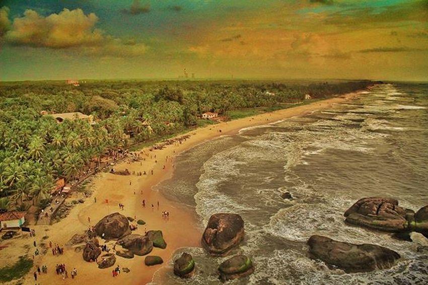 Kaup Beach Beach Sea Sunset Beauty Nature Udupi Mangalore Kaup Karnataka Nammaudupi Green