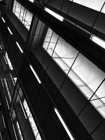 Architecture Built Structure Low Angle View Indoors  Modern No People Architectural Design Futuristic Day Decathlon EyeEm Best Shots The Week On EyeEm Architectural Column Architectural Detail Black And White Abstract Minimalism Macro