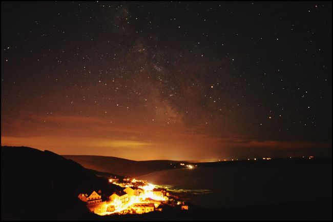 Night Sky over Woolacombe, Devon Night Silhouette Star - Space Beauty In Nature Nature Outdoors Scenics No People Sky Astronomy EyeEm Nature Lover EyeEm Gallery Eyeemphotography EyeEm Eye4photography  EyeEm Best Shots Stars EyeEmBestPics Star Trail Nightphotography Night Lights Night Photography Night View
