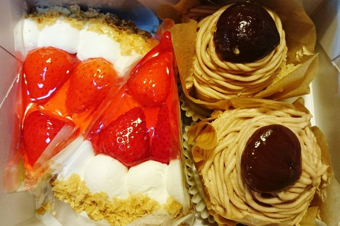 Cake Strawberries Chestnuts Sweets Yummy Tea Time Afternoon Tea Cofee Break Delicious