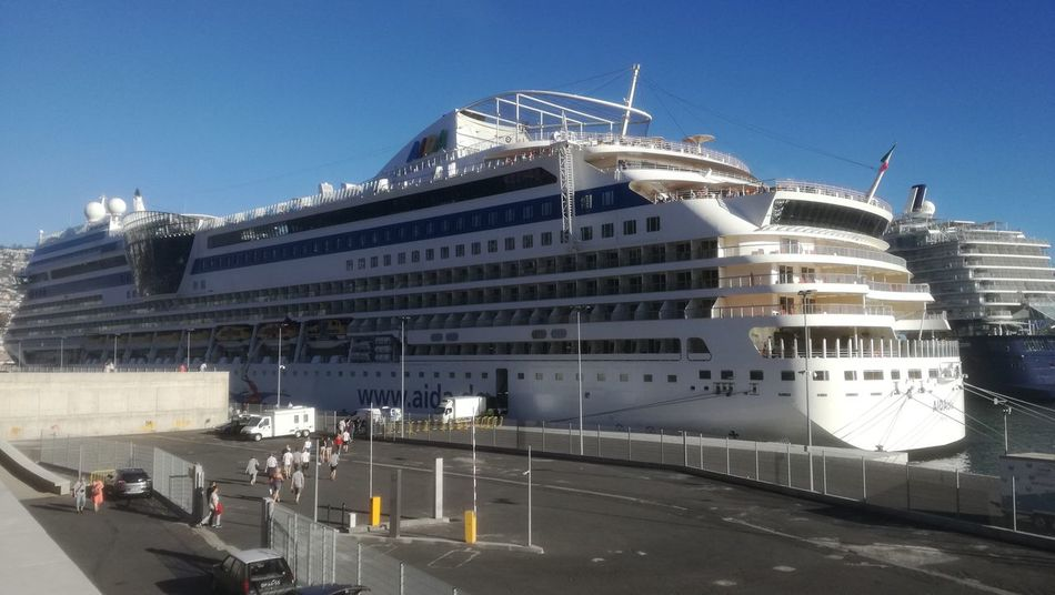 Cruise Ship #funchal #madeira Madeiraisland IloveMadeira Portugal Architecture Modern City Outdoors Sky Day