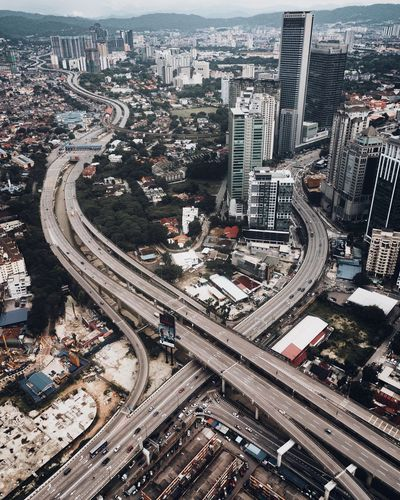 Highway Building Exterior City Architecture Built Structure High Angle View Cityscape Aerial View Building Road Highway