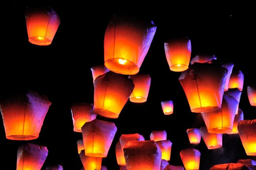 New Taipei City Lantern Festival folk culture festival daylight Festival Season Holiday Taiwan Black Background Burning Celebration Close-up Culture Festival Flame Folk Glowing Heat - Temperature Illuminated Indoors  Lantern Festival Lighting Equipment New Taipei City Night No People Sky Lantern