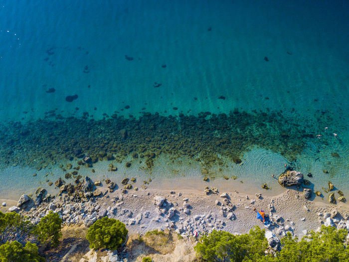 Makarska beach Makarska, Croatia Pisak Water Sea Underwater Land Animal Wildlife Nature Animals In The Wild Animal Sea Life Beach Day High Angle View Marine Outdoors UnderSea Drone