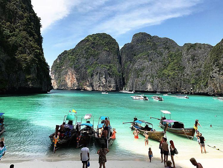 Water Beach Nature Sand Thailand Mayabay Phiphiisland Same Same But Different First Eyeem Photo
