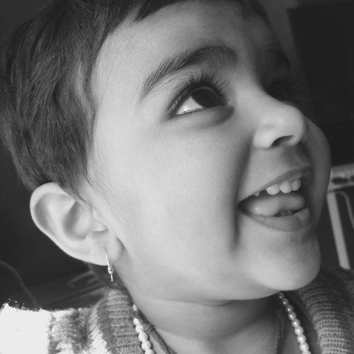 Girl Smile Beautiful Innocence Happiness Babygirl Blackandwhite Eyes Eyelashes Softskin First Eyeem Photo