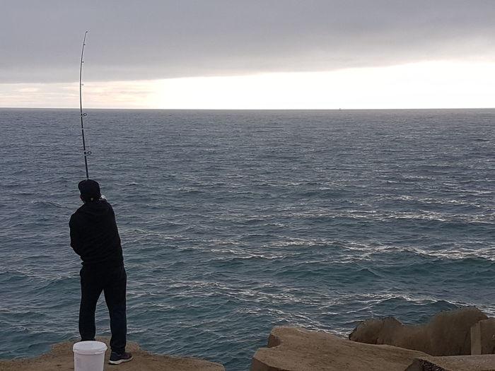 fishing at the