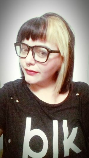 Portrait Eyeglasses  Women Horn Rimmed Glasses Front View Mid Adult Close-up