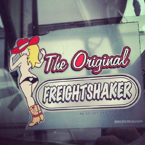 @love_lorixo the sticker on the side of the truck i drive Freightliner Huge Diesel