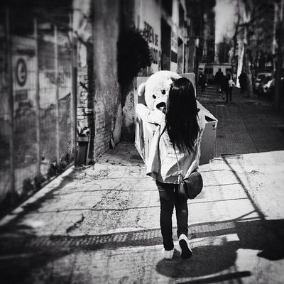 Bye Bye Streetphotography Teddybear Barcelona