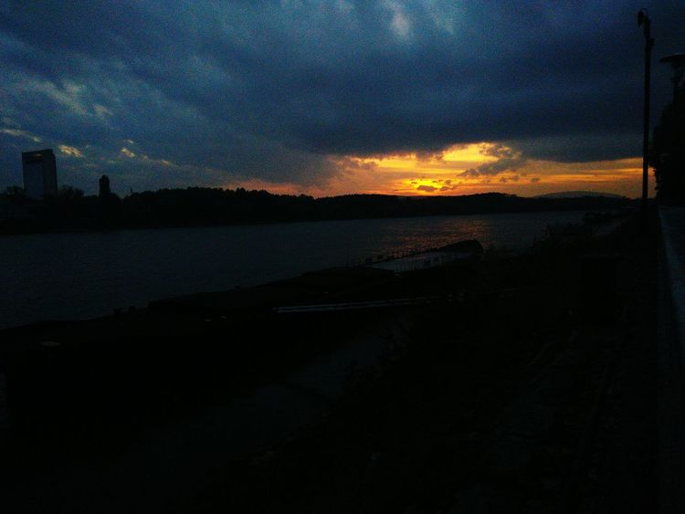 Clouds over sunset. Sunset Sky Nature Beauty In Nature Dramatic Sky Scenics Tranquility No People Outdoors Astronomy Galaxy AndroidPhotography AndroidPhotography Nature_collection Project Water Reflection Tranquility Walking Around Amateurphotography Illuminated Beauty In Nature Bratislava City! Horizon Over Water Weather Night