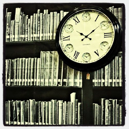 Clock Time Books Black And White
