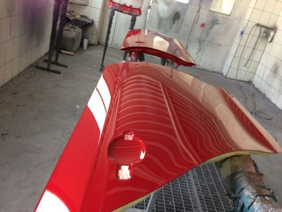 Car Red Volkswagen Paintshop