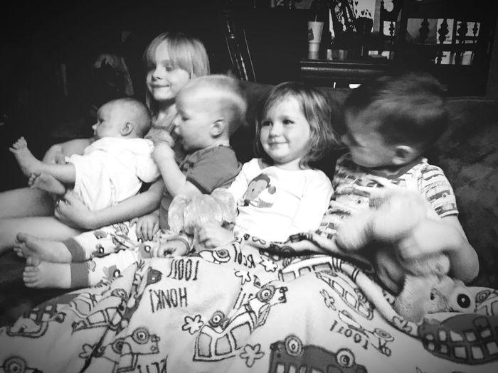 These are my 5 littles! ElliottGrace EthanQuincyOwen MadisonNekodaHope HezekiahJethroFreedom JedidiahJoy