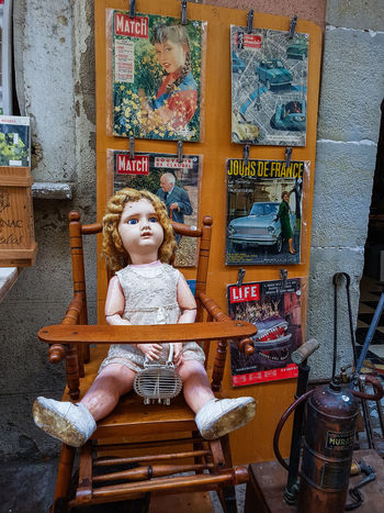 Doll Magazines Newspapers Antique Shop Antiques Childhood Covers Day Indoors  Paris Match Stuffed Toy Vinatge