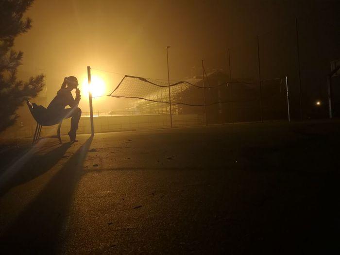 Volleyball Volleyball Sport Sports Girl Woman Light Sunset Sport Full Length Sky