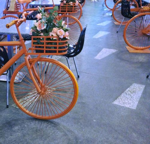 Bicycle Transportation Mode Of Transport Street Land Vehicle Wheel Stationary Outdoors Bicycle Basket Cycling Day High Angle View Basket No People Spoke Bicycle Rack Pedal City Tire Investing In Quality Of Life