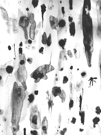 Backgrounds Close-up Abstract Ink Ink Blot Therapy Black And White Handmade Bored Creativity Paper Paper View Pattern Pieces