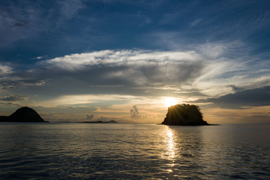 Labuan Bajo sunset Beauty In Nature Cloud - Sky Horizon Horizon Over Water Idyllic Nature No People Non-urban Scene Outdoors Rock Scenics - Nature Sea Silhouette Sky Stack Rock Sunset Tranquil Scene Tranquility Water Waterfront
