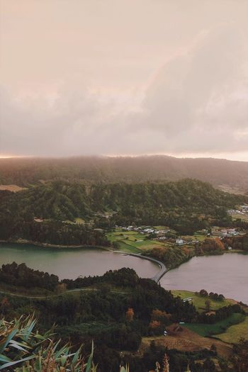 The Sete Cidades 🌄 Nature_collection Adventure Travel Azores Island Sky Water Scenics - Nature Beauty In Nature Cloud - Sky Nature Environment Tranquil Scene Landscape No People Tranquility Sunset Outdoors River Tree Plant