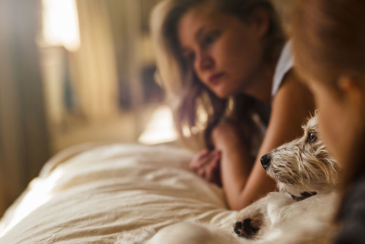 Love 50mm Zeiss Sonnar Beauty Casual Clothing Confidence  Dog Love Domestic Animals Domestic Life Faces Focus On Foreground Home Interior Indoors  Innocence Leica Leisure Activity Lifestyles Long Hair M Person Relaxation Young Adult