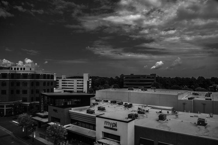 City center pt. 1 Architecture Outdoors Cloudy Cloud - Sky Cloud City Day Mhphotographs Blackandwhite Photography Black & White Marcushagans Landscape