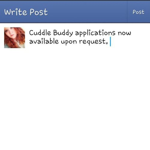 Cuddlebuddy Applications  FacebookStatus Foreveralone