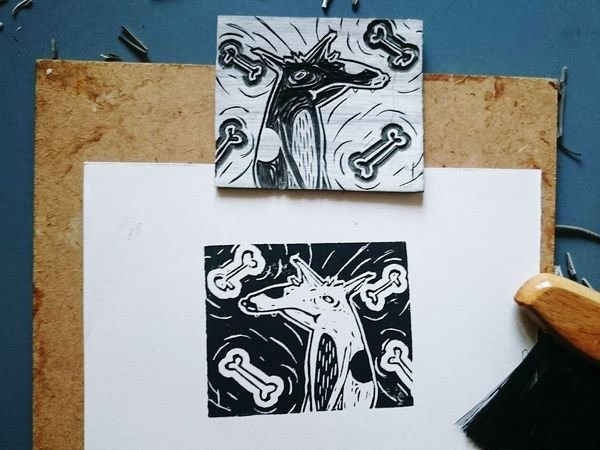 Linolschnitt Carving Lino Linoleum Printmaking Linocut Linoprint Linoleum Print Linol Printing Illustration