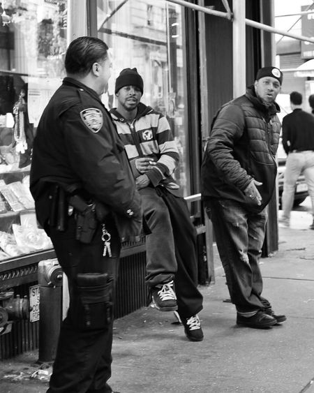 These cops scolded me when I snapped them... I was really scared ! USA New York Street NYPD Police Cops Scold Street Photography X100t Fujifilm