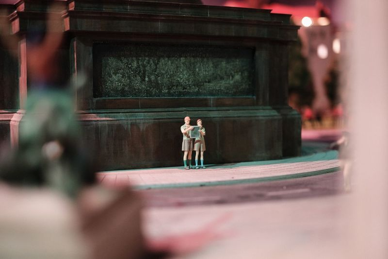 Tourists EyeEm Selects Selective Focus Real People Childhood Architecture Boys Outdoors Night One Person People Full Length Building Exterior