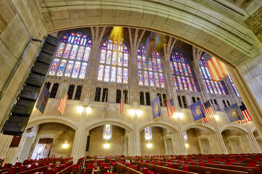 Cadet Chapel at West Point Cathedral Chapel Arch Architectural Column Architecture Building Built Structure Ceiling Christ The Redeemer City History Illuminated Indoors  Long Exposure Low Angle View Ornate Place Of Worship Religion The Past Tourism Travel Travel Destinations West Point Window