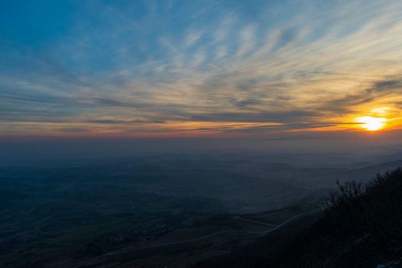 Kalnik colage. Sunset Beauty Mountain Fog Sky Atmospheric Mood Dramatic Sky Moody Sky Romantic Sky Cloudscape Calm Atmosphere Dramatic Landscape